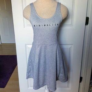 Minimalism H&M 6 Heather Gray Skater Dress
